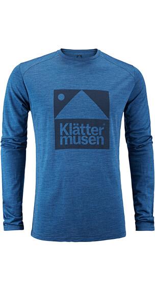 Klättermusen Eir - T-shirt manches longues Homme - bleu